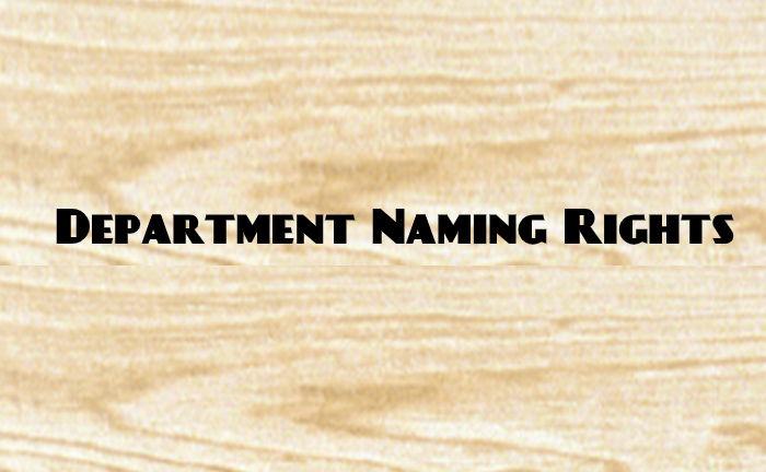 Department Naming Rights