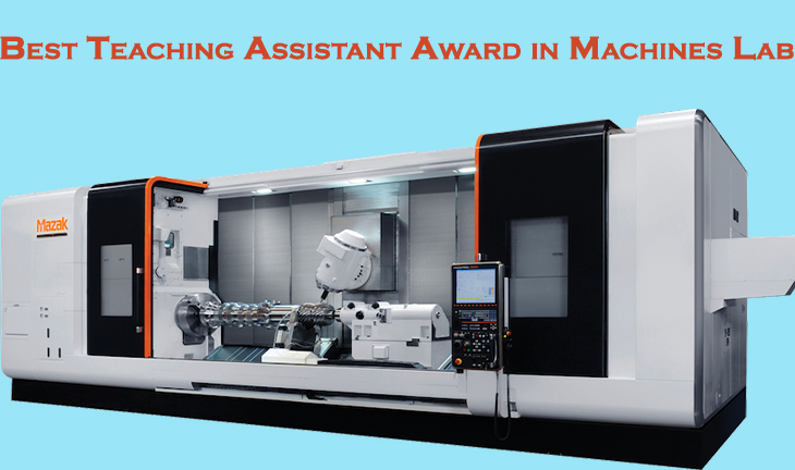 Best Teaching Assistant Award in Machines Lab