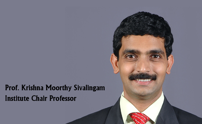 Institute Chair - Prof. Krishna Moorthy Sivalingam